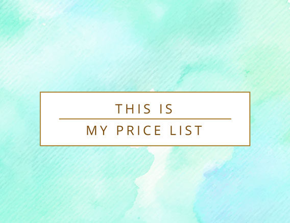 This is my price list